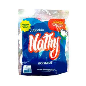 Algodão Hidrófilo Nathy em Bolas - Pacote com 50g