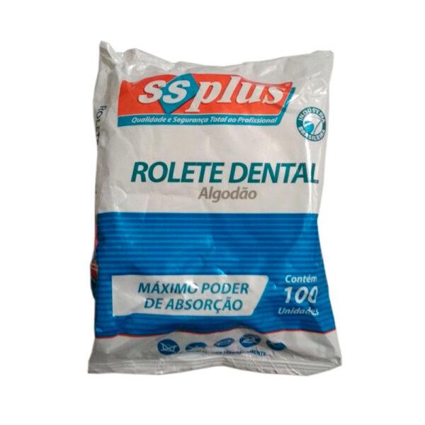 Algodão Rolete Dental - Pacote com 100 Unidades
