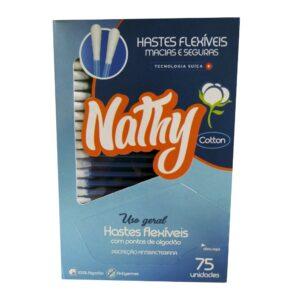 Cotonete Hastes Flexíveis (NATHY) - Caixa com 75 Unidades