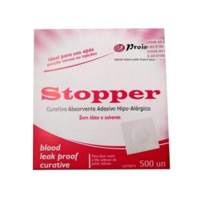 Curativo Pós Punção Venosa Branco (STOPPER) - Caixa com 500 Unidades