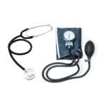Kit Esfigmomanômetro Azul + Estetoscópio Simples (LABOR)