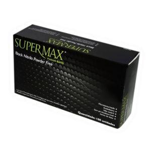 Luva Nitrílica Black (SUPERMAX) - Caixa com 100 Unidades