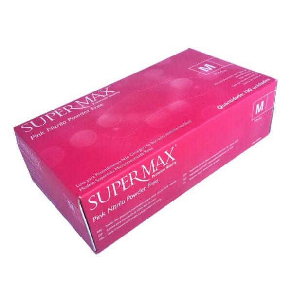 Luva Nitrílica Pink (SUPERMAX) - Caixa com 100 Unidades