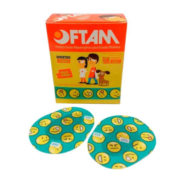 Protetor Ocular Pequeno Especial Emojis (OFTAM) - Caixa com 20 Unidades