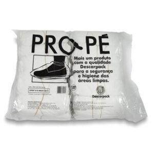 Sapatilha Propé Descartável Branco (DESCARPACK) - Pacote com 100 Unidades
