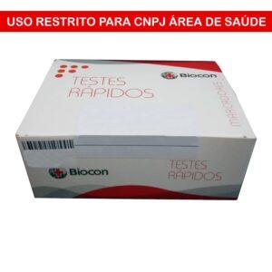 Teste Rápido Troponina 0,5 ng/mL (BIOCON) - Caixa com 20 Unidades