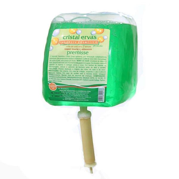 Sabonete Líquido Cristal Ervas (PREMISSE) - Refil com 800 ml