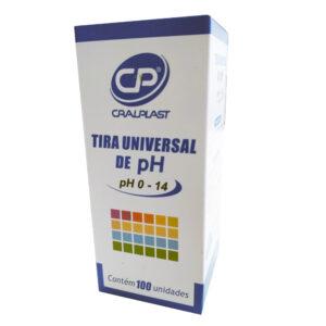Tira Universal de pH 0-14 (CRAL) - Caixa com 100 Unidades